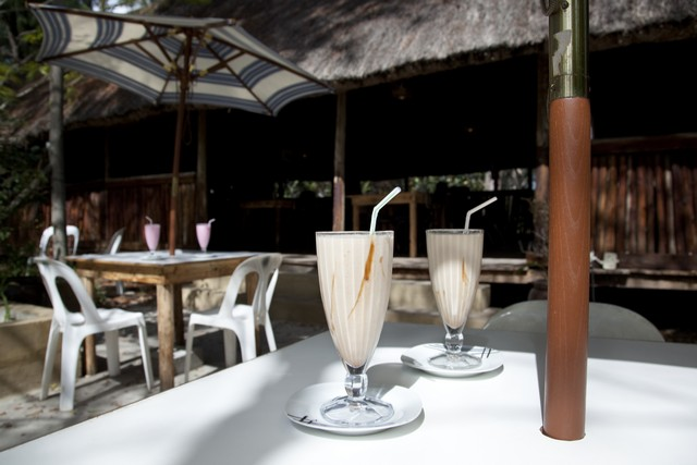 Enjoy a milkshake at our restaurant